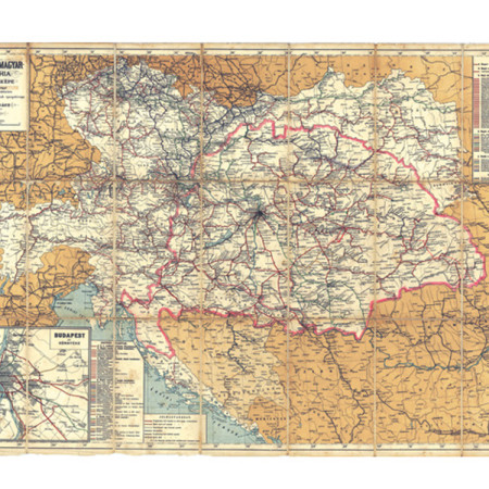 Ignácz Hátsek: The Rail Map of the Austro-Hungarian Empire