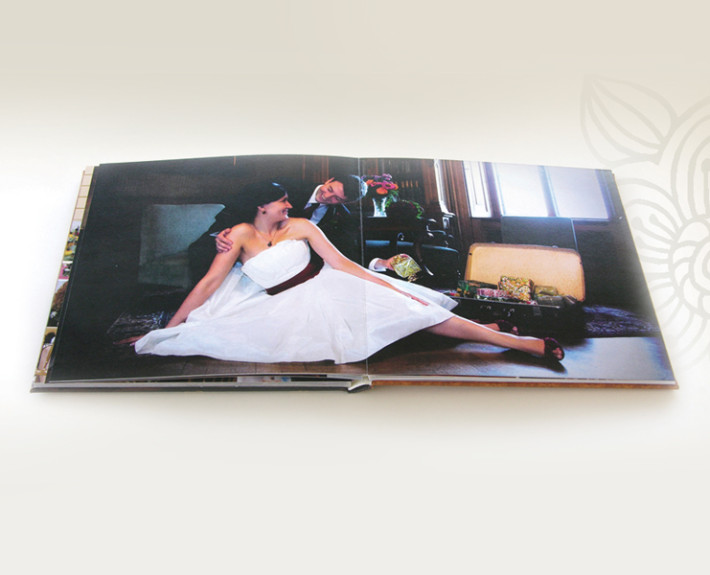wedding photobook open
